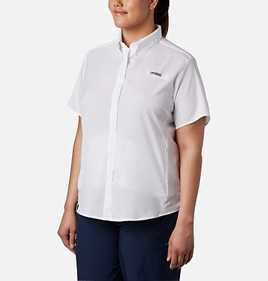 Women's PFG Tamiami™ II Short Sleeve Shirt - Plus Size Womens Tamiami™ II SS Shirt | 658 | 1X, White, front