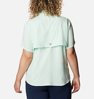 Women's PFG Tamiami™ II Short Sleeve Shirt - Plus Size Womens Tamiami™ II SS Shirt | 658 | 1X, Light Mint, back