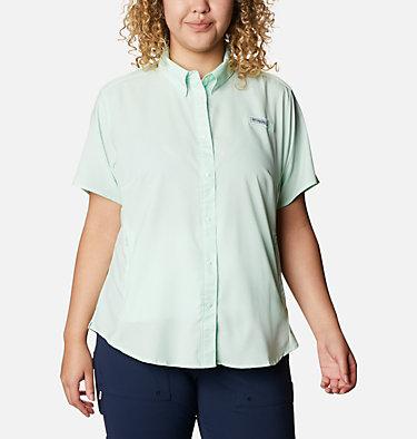 Women's PFG Tamiami™ II Short Sleeve Shirt - Plus Size Womens Tamiami™ II SS Shirt | 658 | 1X, Light Mint, front