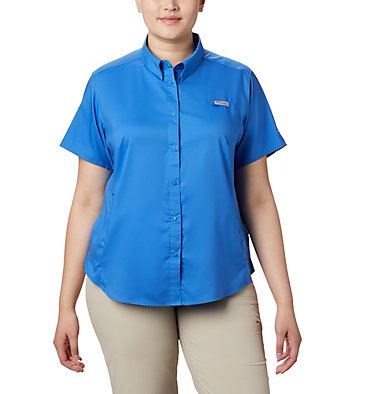 Women's PFG Tamiami™ II Short Sleeve Shirt - Plus Size Womens Tamiami™ II SS Shirt | 658 | 1X, Stormy Blue, front