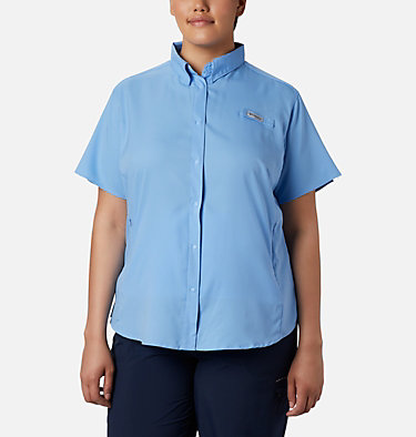 Women's PFG Tamiami™ II Short Sleeve Shirt - Plus Size Womens Tamiami™ II SS Shirt | 658 | 1X, White Cap, front