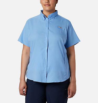 Women's PFG Tamiami™ II Short Sleeve Shirt - Plus Size Womens Tamiami™ II SS Shirt | 658 | 1X, White Cap, front