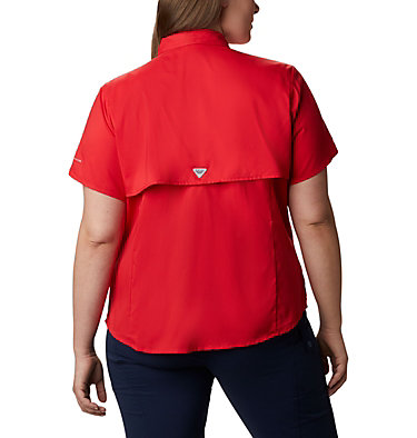 Women's PFG Tamiami™ II Short Sleeve Shirt - Plus Size Womens Tamiami™ II SS Shirt | 658 | 1X, Red Lily, back