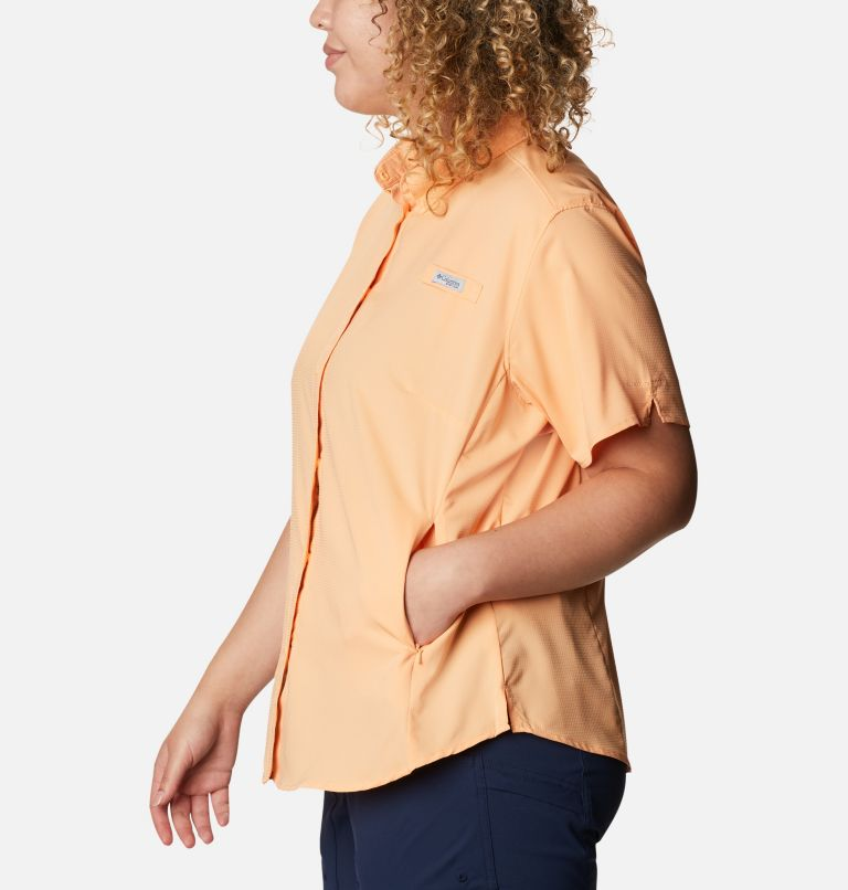 Womens Tamiami™ II SS Shirt | 856 | 1X Women's PFG Tamiami™ II Short Sleeve Shirt - Plus Size, Light Juice, a1
