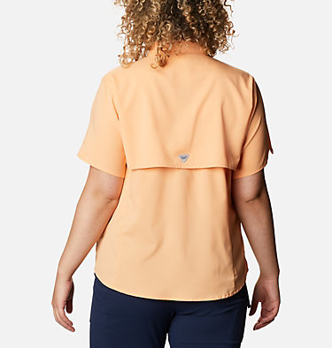 Women's PFG Tamiami™ II Short Sleeve Shirt - Plus Size Womens Tamiami™ II SS Shirt | 658 | 1X, Light Juice, back