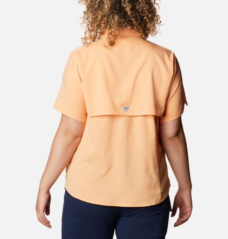 Womens Tamiami™ II SS Shirt | 856 | 1X Women's PFG Tamiami™ II Short Sleeve Shirt - Plus Size, Light Juice, back