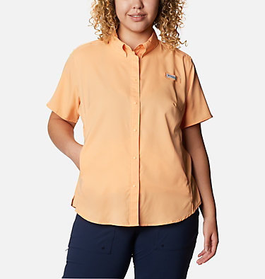 Women's PFG Tamiami™ II Short Sleeve Shirt - Plus Size Womens Tamiami™ II SS Shirt | 658 | 1X, Light Juice, front