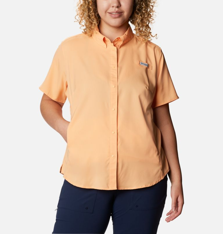 Womens Tamiami™ II SS Shirt | 856 | 1X Women's PFG Tamiami™ II Short Sleeve Shirt - Plus Size, Light Juice, front
