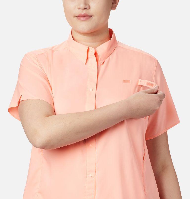 Womens Tamiami™ II SS Shirt   884   1X Women's PFG Tamiami™ II Short Sleeve Shirt - Plus Size, Tiki Pink, a3