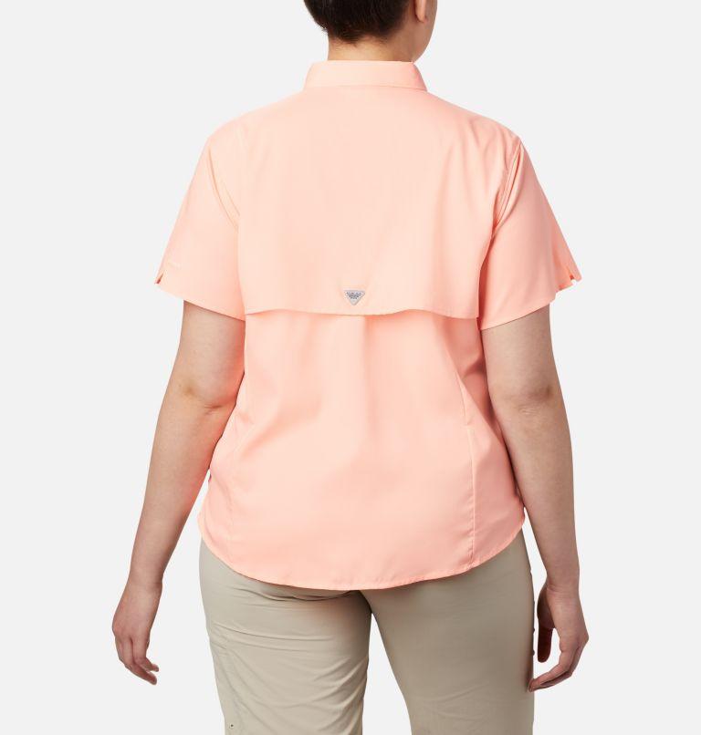 Womens Tamiami™ II SS Shirt   884   1X Women's PFG Tamiami™ II Short Sleeve Shirt - Plus Size, Tiki Pink, back