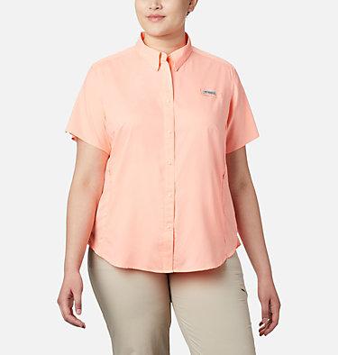 Women's PFG Tamiami™ II Short Sleeve Shirt - Plus Size Womens Tamiami™ II SS Shirt | 658 | 1X, Tiki Pink, front