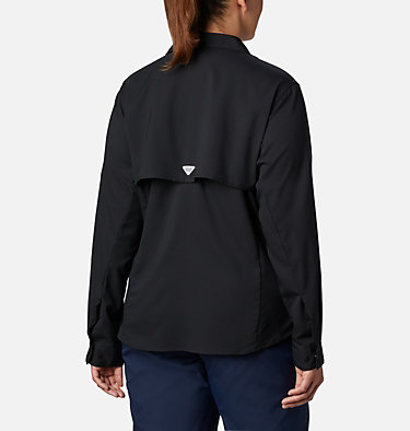Women's PFG Tamiami™ II Long Sleeve Shirt - Plus Size Womens Tamiami™ II LS Shirt | 658 | 1X, Black, back