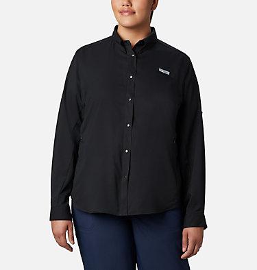 Women's PFG Tamiami™ II Long Sleeve Shirt - Plus Size Womens Tamiami™ II LS Shirt | 658 | 1X, Black, front