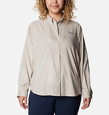 Women's PFG Tamiami™ II Long Sleeve Shirt - Plus Size Womens Tamiami™ II LS Shirt | 658 | 1X, Light Cloud, front