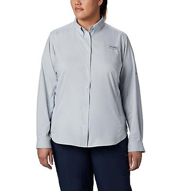 Women's PFG Tamiami™ II Long Sleeve Shirt - Plus Size Womens Tamiami™ II LS Shirt | 658 | 1X, Cirrus Grey, front