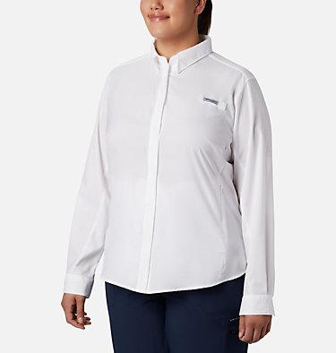 Women's PFG Tamiami™ II Long Sleeve Shirt - Plus Size Womens Tamiami™ II LS Shirt | 658 | 1X, White, front