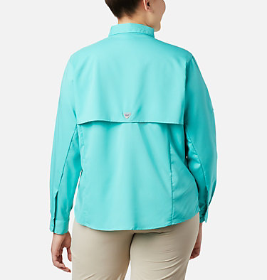 Women's PFG Tamiami™ II Long Sleeve Shirt - Plus Size Womens Tamiami™ II LS Shirt | 658 | 1X, Dolphin, back