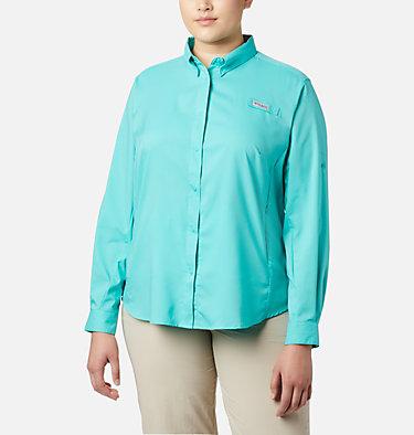 Women's PFG Tamiami™ II Long Sleeve Shirt - Plus Size Womens Tamiami™ II LS Shirt | 658 | 1X, Dolphin, front