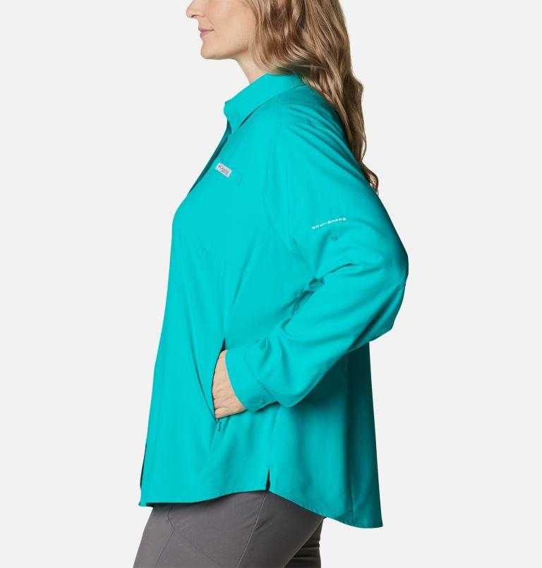 Womens Tamiami™ II LS Shirt | 360 | 1X Women's PFG Tamiami™ II Long Sleeve Shirt - Plus Size, Tropic Water, a1