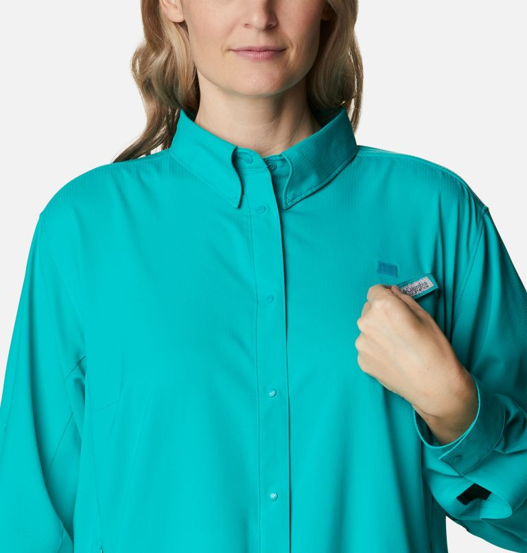 Womens Tamiami™ II LS Shirt | 360 | 1X Women's PFG Tamiami™ II Long Sleeve Shirt - Plus Size, Tropic Water, a2