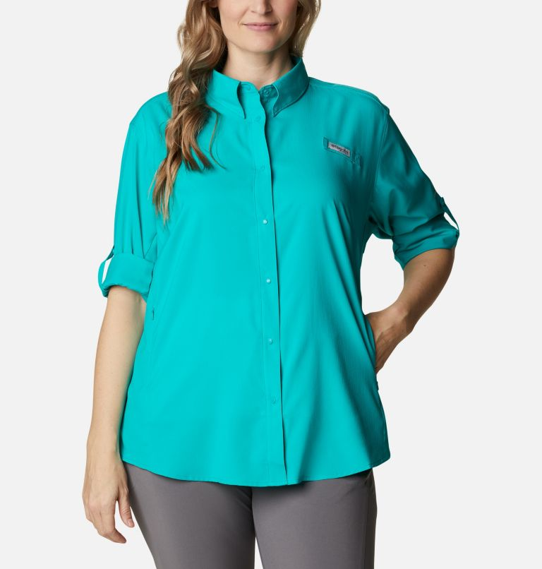 Womens Tamiami™ II LS Shirt | 360 | 1X Women's PFG Tamiami™ II Long Sleeve Shirt - Plus Size, Tropic Water, a4