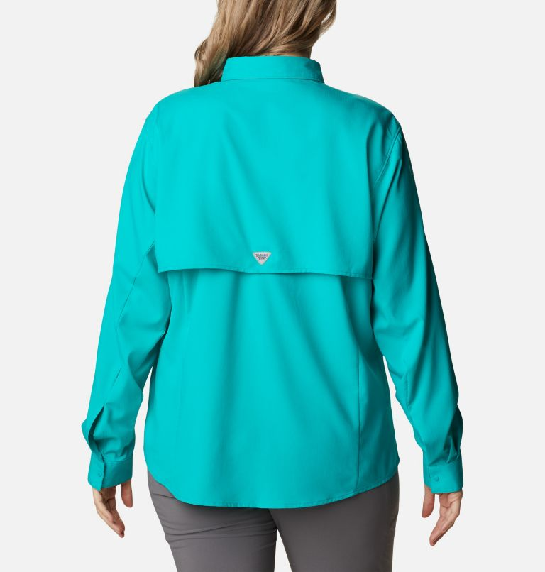Womens Tamiami™ II LS Shirt | 360 | 1X Women's PFG Tamiami™ II Long Sleeve Shirt - Plus Size, Tropic Water, back