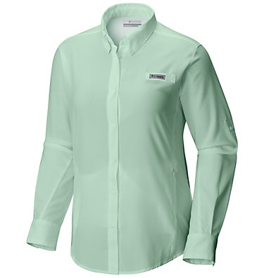 Women's PFG Tamiami™ II Long Sleeve Shirt - Plus Size Womens Tamiami™ II LS Shirt | 658 | 1X, Light Mint, front