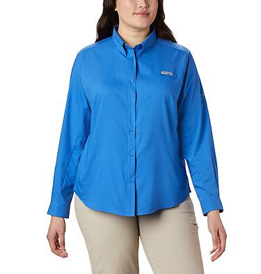 Women's PFG Tamiami™ II Long Sleeve Shirt - Plus Size Womens Tamiami™ II LS Shirt | 658 | 1X, Stormy Blue, front