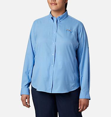 Women's PFG Tamiami™ II Long Sleeve Shirt - Plus Size Womens Tamiami™ II LS Shirt | 658 | 1X, White Cap, front