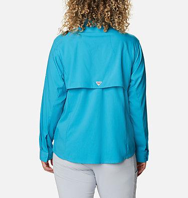 Women's PFG Tamiami™ II Long Sleeve Shirt - Plus Size Womens Tamiami™ II LS Shirt   658   1X, Clear Water, back