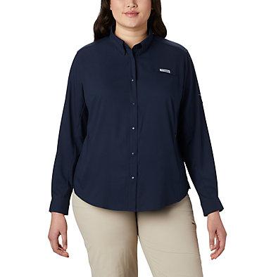Women's PFG Tamiami™ II Long Sleeve Shirt - Plus Size Womens Tamiami™ II LS Shirt | 658 | 1X, Collegiate Navy, front