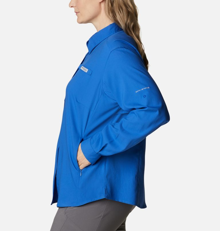 Womens Tamiami™ II LS Shirt | 487 | 3X Women's PFG Tamiami™ II Long Sleeve Shirt - Plus Size, Vivid Blue, a1