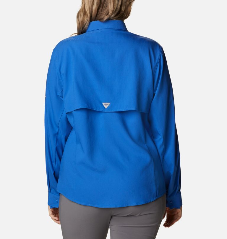 Womens Tamiami™ II LS Shirt | 487 | 3X Women's PFG Tamiami™ II Long Sleeve Shirt - Plus Size, Vivid Blue, back