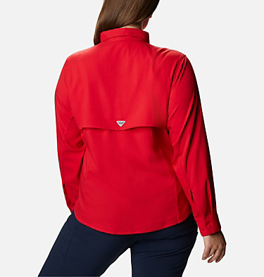 Women's PFG Tamiami™ II Long Sleeve Shirt - Plus Size Womens Tamiami™ II LS Shirt | 658 | 1X, Red Lily, back