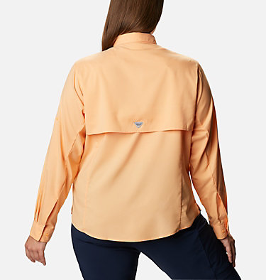 Women's PFG Tamiami™ II Long Sleeve Shirt - Plus Size Womens Tamiami™ II LS Shirt | 658 | 1X, Light Juice, back