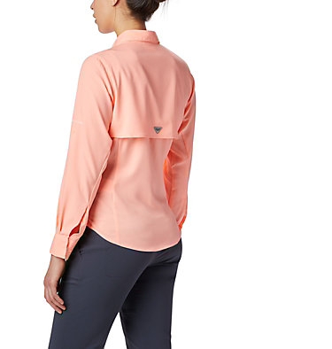 Women's PFG Tamiami™ II Long Sleeve Shirt - Plus Size Womens Tamiami™ II LS Shirt | 658 | 1X, Tiki Pink, back