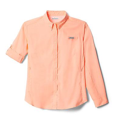 Women's PFG Tamiami™ II Long Sleeve Shirt - Plus Size Womens Tamiami™ II LS Shirt | 658 | 1X, Tiki Pink, front