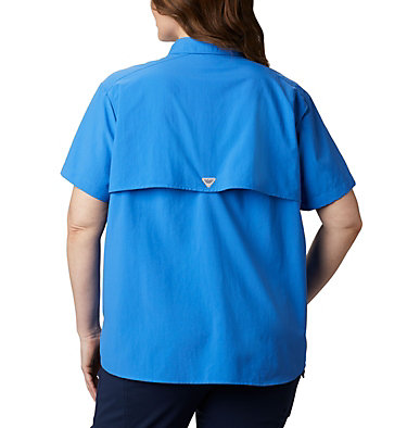 Women's PFG Bahama™ Short Sleeve - Plus Size Womens Bahama™ SS | 424 | 1X, Stormy Blue, back