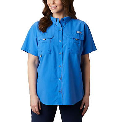 Women's PFG Bahama™ Short Sleeve - Plus Size Womens Bahama™ SS | 424 | 1X, Stormy Blue, front