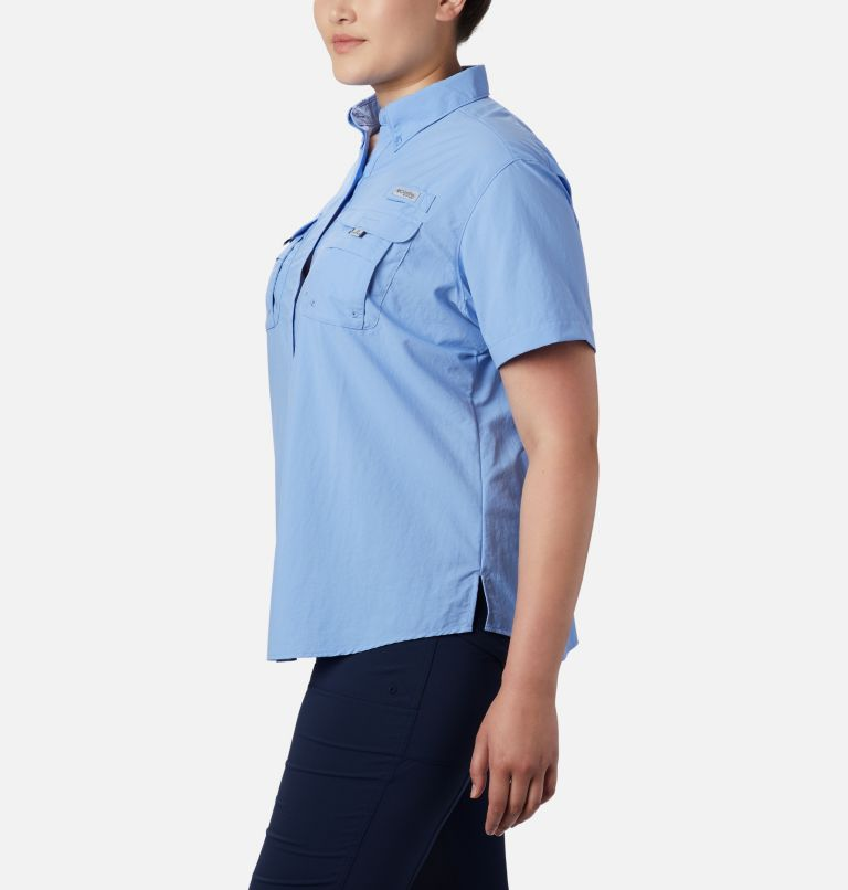 Womens Bahama™ SS | 450 | 1X Women's PFG Bahama™ Short Sleeve - Plus Size, White Cap, a1