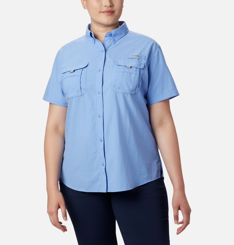 Womens Bahama™ SS | 450 | 1X Women's PFG Bahama™ Short Sleeve - Plus Size, White Cap, front