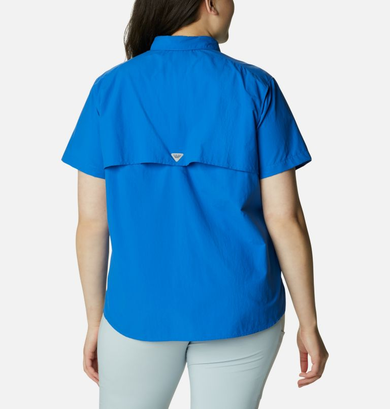 Womens Bahama™ SS   487   1X Women's PFG Bahama™ Short Sleeve - Plus Size, Vivid Blue, back