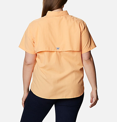 Women's PFG Bahama™ Short Sleeve - Plus Size Womens Bahama™ SS | 424 | 1X, Light Juice, back
