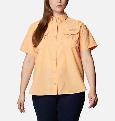 Women's PFG Bahama™ Short Sleeve - Plus Size Womens Bahama™ SS | 424 | 1X, Light Juice, front