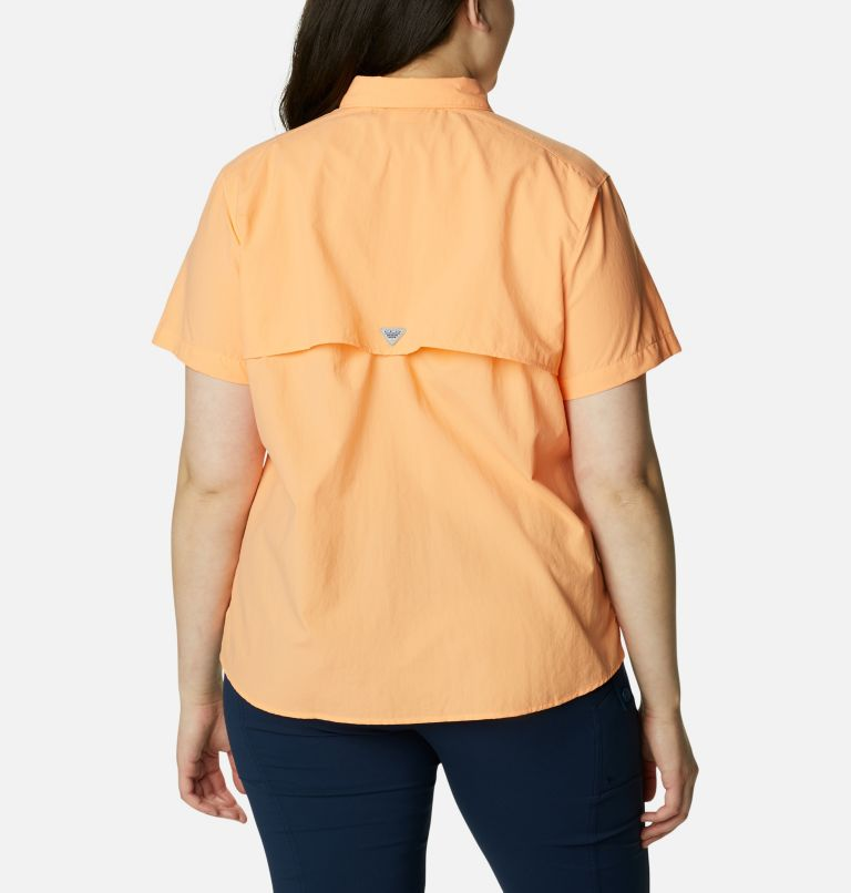 Womens Bahama™ SS | 873 | 2X Women's PFG Bahama™ Short Sleeve - Plus Size, Bright Nectar, back