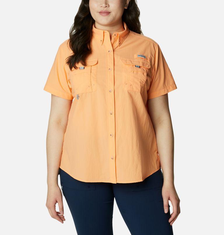 Womens Bahama™ SS   873   3X Women's PFG Bahama™ Short Sleeve - Plus Size, Bright Nectar, front
