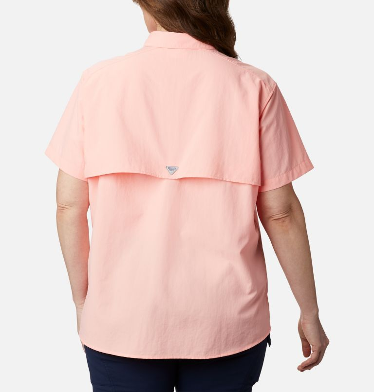 Womens Bahama™ SS | 884 | 2X Women's PFG Bahama™ Short Sleeve - Plus Size, Tiki Pink, back