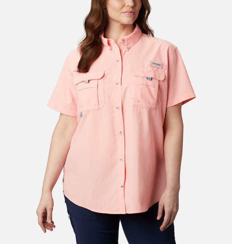 Womens Bahama™ SS | 884 | 3X Women's PFG Bahama™ Short Sleeve - Plus Size, Tiki Pink, front