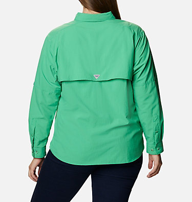 Women's PFG Bahama™ Long Sleeve - Plus Size Womens Bahama™ LS | 475 | 3X, Emerald City, back