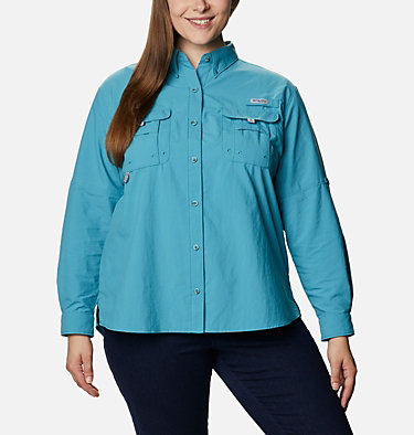 Women's PFG Bahama™ Long Sleeve - Plus Size Womens Bahama™ LS | 475 | 3X, Shasta, front